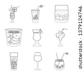 vector design of beverage and... | Shutterstock .eps vector #1379124746