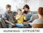 caring parents and misbehaving... | Shutterstock . vector #1379128730