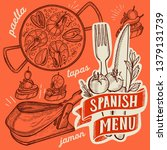 spanish cuisine illustrations   ... | Shutterstock .eps vector #1379131739