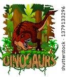 tyrannosaurus on the background ... | Shutterstock .eps vector #1379133296