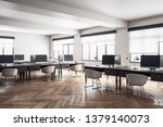 contemporary coworking office... | Shutterstock . vector #1379140073