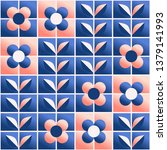 seamless retro pattern with... | Shutterstock .eps vector #1379141993