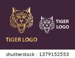 vector tiger head logo icon  | Shutterstock .eps vector #1379152553