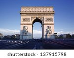 horizontal view of famous arc... | Shutterstock . vector #137915798