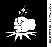 angry fist on table vector icon.... | Shutterstock .eps vector #1379173103