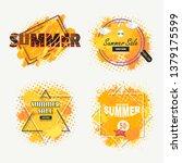 orange watercolors background... | Shutterstock .eps vector #1379175599