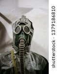 vintage gas mask and... | Shutterstock . vector #1379186810