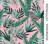 tropical vector realistic green ... | Shutterstock .eps vector #1379196266