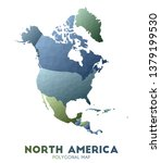 north america map. actual low... | Shutterstock .eps vector #1379199530