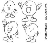 vector set of egg cartoon | Shutterstock .eps vector #1379205296