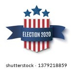 2020 presedential election ... | Shutterstock .eps vector #1379218859