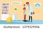 kid in pediatrics clinic flat...   Shutterstock .eps vector #1379229506