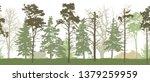 seamless pattern of silhouette... | Shutterstock .eps vector #1379259959