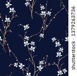 vintage floral wallpaper...   Shutterstock .eps vector #1379263736