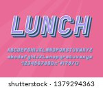 geometric italic alphabet three ... | Shutterstock .eps vector #1379294363