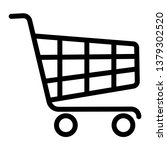shopping cart icon in flat... | Shutterstock .eps vector #1379302520