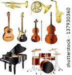 musical instruments photo... | Shutterstock .eps vector #137930360