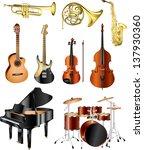 musical instruments photo...   Shutterstock .eps vector #137930360