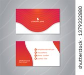 luxury business card with... | Shutterstock .eps vector #1379332880