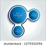3 step chart  infographic. | Shutterstock .eps vector #1379333396