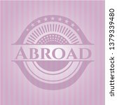 abroad retro style pink emblem   Shutterstock .eps vector #1379339480