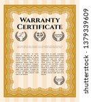 orange vintage warranty...   Shutterstock .eps vector #1379339609