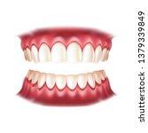 realistic dentures for... | Shutterstock .eps vector #1379339849