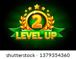 level up banner with green...