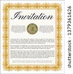 orange invitation. nice design. ...   Shutterstock .eps vector #1379361626