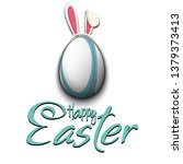 happy easter. decorated egg in...   Shutterstock .eps vector #1379373413