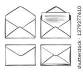 letter  envelope  set icon... | Shutterstock .eps vector #1379377610