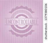 uncontrollable pink emblem....   Shutterstock .eps vector #1379380106