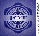 jot emblem with jean background   Shutterstock .eps vector #1379380166