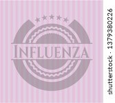 influenza pink emblem. vintage.   Shutterstock .eps vector #1379380226
