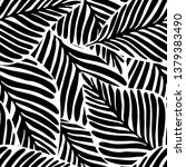 monochrome jungle geometric... | Shutterstock .eps vector #1379383490