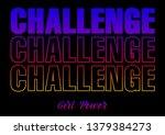 challenge  gradient graphic... | Shutterstock .eps vector #1379384273