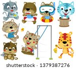 vector set of cats cartoon... | Shutterstock .eps vector #1379387276
