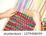 Weaving. Hands Of Little...
