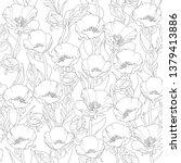 seamless floral pattern ... | Shutterstock . vector #1379413886