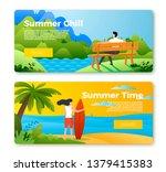 vector set of bright banner... | Shutterstock .eps vector #1379415383