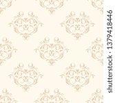 seamless vintage ornament on...   Shutterstock .eps vector #1379418446