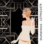 art deco vintage invitation...   Shutterstock .eps vector #1379421479