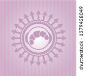 croissant icon inside pink...   Shutterstock .eps vector #1379428049