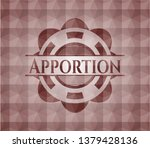 apportion red badge with...   Shutterstock .eps vector #1379428136