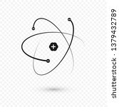 atom structure nucleus and... | Shutterstock .eps vector #1379432789