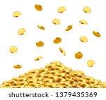 falling coins  falling money ... | Shutterstock .eps vector #1379435369