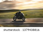 man riding a sports motorbike... | Shutterstock . vector #1379438816