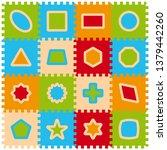 vector foam baby kids play mat... | Shutterstock .eps vector #1379442260