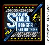 feeling great typography slogan   Shutterstock .eps vector #1379445503