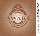 awake vintage wood emblem   Shutterstock .eps vector #1379449346